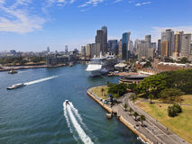 Sy CBD Quay Day From Bridge Royalty Free Stock Photos