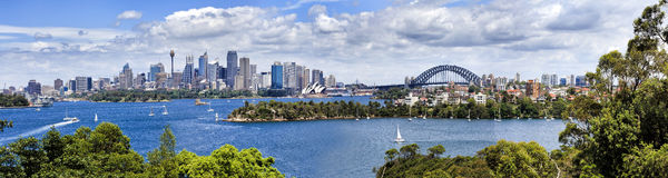 Sy CBD from Taronga 04 Panorama Stock Photos