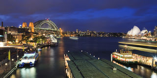 Sy Circular Quay Set Pan Stock Photography