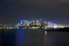 Sy City Wavert Night blue Royalty Free Stock Image