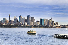 Sy Ferry 2 CBD mid harbour Royalty Free Stock Image