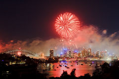 Sy Fireworks Red Royalty Free Stock Images