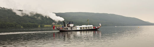 An SY Gondola Shot on Coniston Water Stock Images