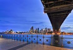 Sy Kirribilli Under Bridge CBD Royalty Free Stock Photography