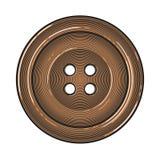 Sy knappen i tappninggravyrstil Arkivfoto