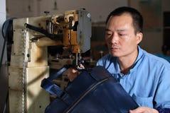 Sy lädermaterial Fotografering för Bildbyråer