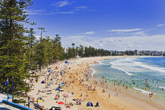 Sy Manly Beach Above Day Royalty Free Stock Image