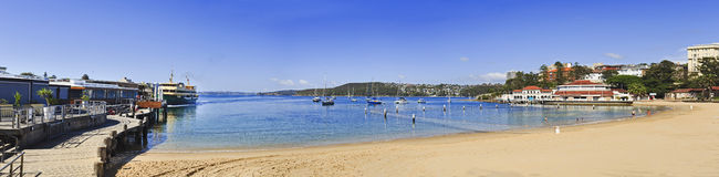 Sy Manly Beach Ferry Day Pan Stock Images