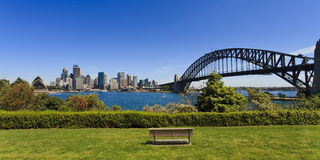 SY Mils Point Day Park Bench Royalty Free Stock Image