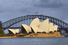 Sydney Opera Bridge Arch day Royalty Free Stock Photo