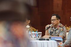 Syafruddin är nationell polisersättaren Chief Fotografering för Bildbyråer