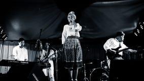 Syaharani, μουσικοί της Jazz στοκ εικόνες