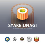 Syake unagi icon in different style Stock Images