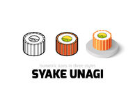 Syake unagi icon in different style Royalty Free Stock Photos