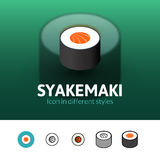 Syakemaki icon in different style Stock Image