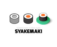 Syakemaki icon in different style Royalty Free Stock Image