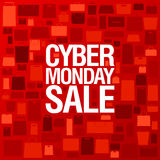 Syber Poniedziałek sprzedaży plakat Zdjęcia Royalty Free
