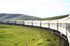 syberyjska kolej od Beijing porcelany ulaanbaatar Mongolia zdjęcia royalty free