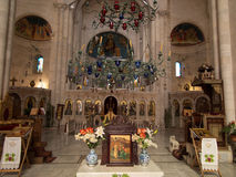 Sychar, Ισραήλ, στις 11 Ιουλίου 2015 : Το εσωτερικό της εκκλησίας σε Sy Στοκ φωτογραφίες με δικαίωμα ελεύθερης χρήσης