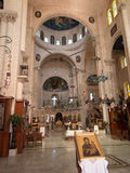 Sychar, Israel, el 11 de julio de 2015 : El interior de la iglesia en Sychar Fotografía de archivo libre de regalías