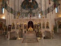 Sychar Israel, Juli 11, 2015 : Inre av kyrkan i Sy Fotografering för Bildbyråer