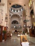 Sychar Israel, Juli 11, 2015 : Inre av kyrkan i Sychar Royaltyfri Fotografi