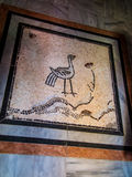 Sychar, Israel, Mosaic on the floor in a modern stock images