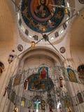 Sychar, Israel, o 11 de julho de 2015 : O interior da igreja em Sy Imagem de Stock Royalty Free