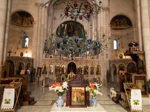 Sychar, Israel, o 11 de julho de 2015 : O interior da igreja em Sychar Fotos de Stock Royalty Free