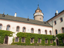 Sychrov Castle courtyard. Neo-Gothic style chateau near Turnov, Czech Republic.  Stock Images