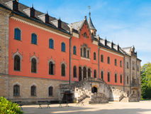 Sychrov Castle with pink facade in Czech Republic Royalty Free Stock Image