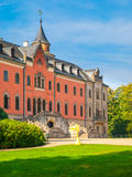 Sychrov Castle with pink facade in Czech Republic Royalty Free Stock Photography