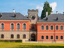 Sychrov Castle with pink facade in Czech Republic Royalty Free Stock Photos