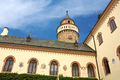 Sychrov chateau. The neo-Gothic chateau in the Czech republic stock photo