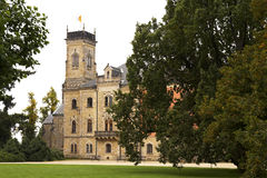 Sychrov chateau. The neo-Gothic chateau in the Czech republic stock image