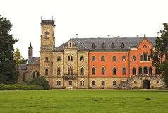 Sychrov chateau. The neo-Gothic chateau in the Czech republic stock photos
