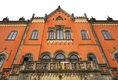 Sychrov chateau. The neo-Gothic chateau in the Czech republic, front view Royalty Free Stock Image