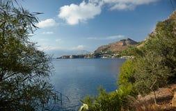 Sycylia wybrzeże Obraz Royalty Free