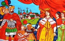 Sycylijska ludowa sztuka, obrazy rydwany, paladins Fotografia Royalty Free