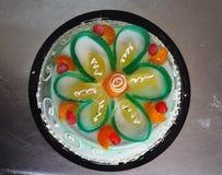 Sycylijska piekarnia Tradycyjny tort - cassata siciliana - Zdjęcie Stock