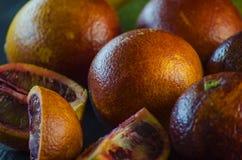 Sycylijski pomarańczowy zakończenie Fotografia Royalty Free