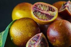 Sycylijski pomarańczowy zakończenie Zdjęcia Royalty Free