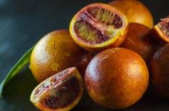 Sycylijski pomarańczowy zakończenie Zdjęcia Stock