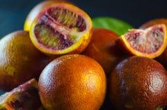 Sycylijski pomarańczowy zakończenie Zdjęcie Stock