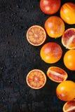 Sycylijskie Krwionośnych pomarańcz owoc Zdjęcia Stock