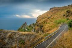 Sycylijskie nabrzeżne drogi Obraz Stock