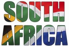 Sydafrika och nationsflaggan Royaltyfri Bild