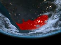 Sydafrika på natten Arkivbild