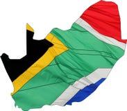 Sydafrika Shape och flagga Arkivfoto