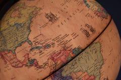 Sydamerika Brasilien på jordklotet arkivbilder